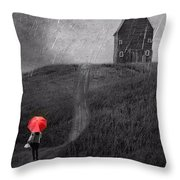 Beauty In The Silver Rain Bw Throw Pillow