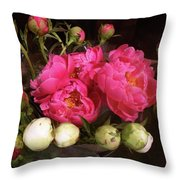 Beauty In The Whole Foods Flower Dept. Throw Pillow
