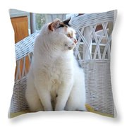 Beauty In White Throw Pillow