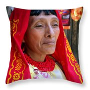 Beauty Of A Woman Throw Pillow