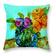 Beauty Of Flowers Throw Pillow