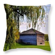 Beauty Of Fort Meigs Throw Pillow
