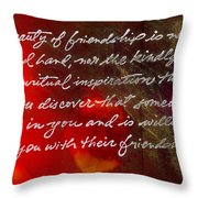 Beauty Of Friendship Throw Pillow