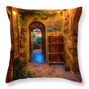 Beauty Of Greek Architechture Throw Pillow