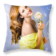 Beauty Of Romance Floating In The Summer Breeze Throw Pillow