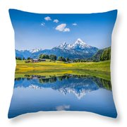 Beauty Of The Alps Throw Pillow