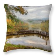 Beauty Of The Lake Oil Painting  Throw Pillow
