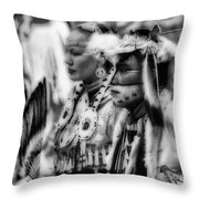 Pow Wow Beauty Of The Past Throw Pillow