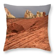 Beauty Of The Sandstone Landscape Throw Pillow