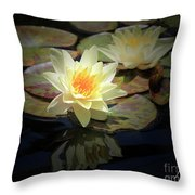 Beauty Of The Water Lily Throw Pillow