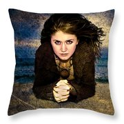 Beauty On The Beach Throw Pillow