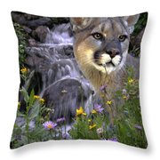 Beauty On The Mountain Throw Pillow