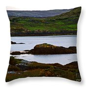 Beauty On The Rocks Throw Pillow