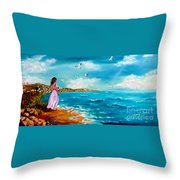 Beauty On The Shore Throw Pillow
