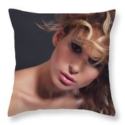 Beauty Portrait Throw Pillow