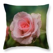 Beauty With Raindrops Throw Pillow