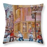 Beautys Restaurant  Throw Pillow