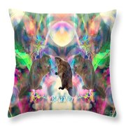 Beaver Moon Throw Pillow