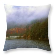 Beaver Pond Kinsman Notch Autumn Storm Throw Pillow