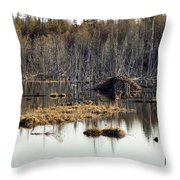 Beaver Residence Throw Pillow