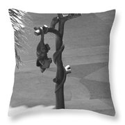 Beavers Bats And Squirrels Throw Pillow
