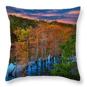 Beavers Bend Twilight Throw Pillow