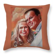 Becky And Chris Throw Pillow