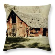 Beckys Barn 1 Throw Pillow