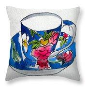 Becky's Teacup Throw Pillow