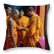 Becoming A Monk Throw Pillow