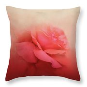 Becoming One Rose Art Throw Pillow