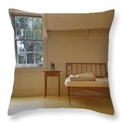 Bed - Infirmary - Fort Larned - Kansas Throw Pillow