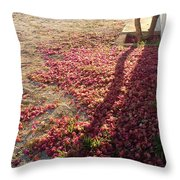 Bed Of Bougainvillea Throw Pillow