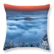 Bed Of Clouds Throw Pillow