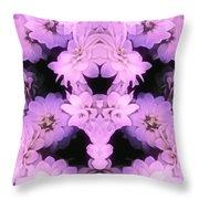 Bed Of Pink Dahlias Throw Pillow