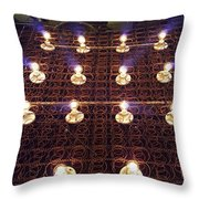Bed Spring Lights Throw Pillow
