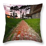 Beddingham Chruch Throw Pillow