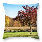 Bedford, Pa Fall Landscape Throw Pillow