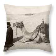 Bedouin At Prayer Throw Pillow