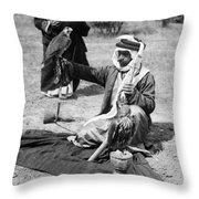Bedouin Falconer, C1910 Throw Pillow