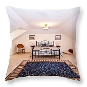 Bedroom With Sloping Ceiling Throw Pillow