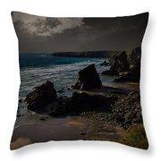 Bedruthan Cornwall Throw Pillow