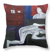 Bedside Vigil Throw Pillow