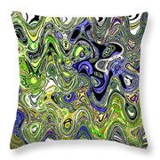 Bedtime Color Abstract Throw Pillow