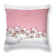 Bedtime Kittens I'm Not Tired Mom Throw Pillow