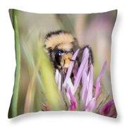 Bee 3 Throw Pillow