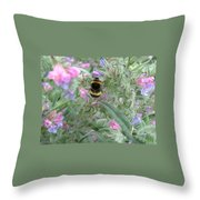 Bee And Flower Throw Pillow