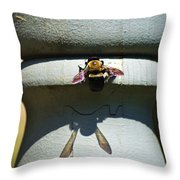 Bee And My Shadow Throw Pillow