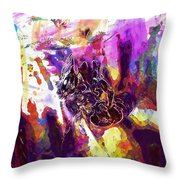 Bee Close Insect Flower  Throw Pillow