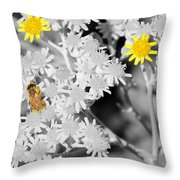 Bee Colored Throw Pillow